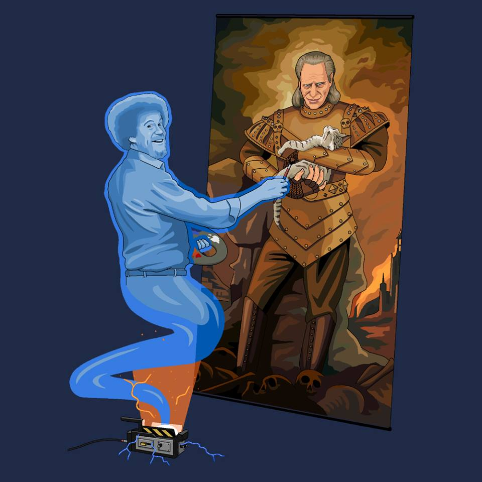 Microsoft Paint is to be Killed off so let's Celebrate all it's Glory Bob Ross Painting Vigo holding a cat Bob Ross Painting Vigo holding a cat
