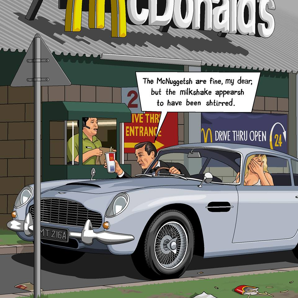 Microsoft Paint is to be Killed off so let's Celebrate all it's Glory James Bond ordering 20 Chicken McNuggets