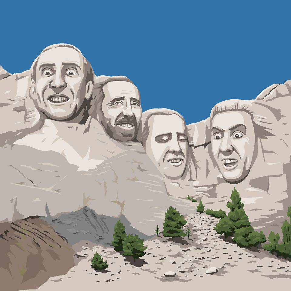 Microsoft Paint is to be Killed off so let's Celebrate all it's Glory Nic Cage Mount Rushmore