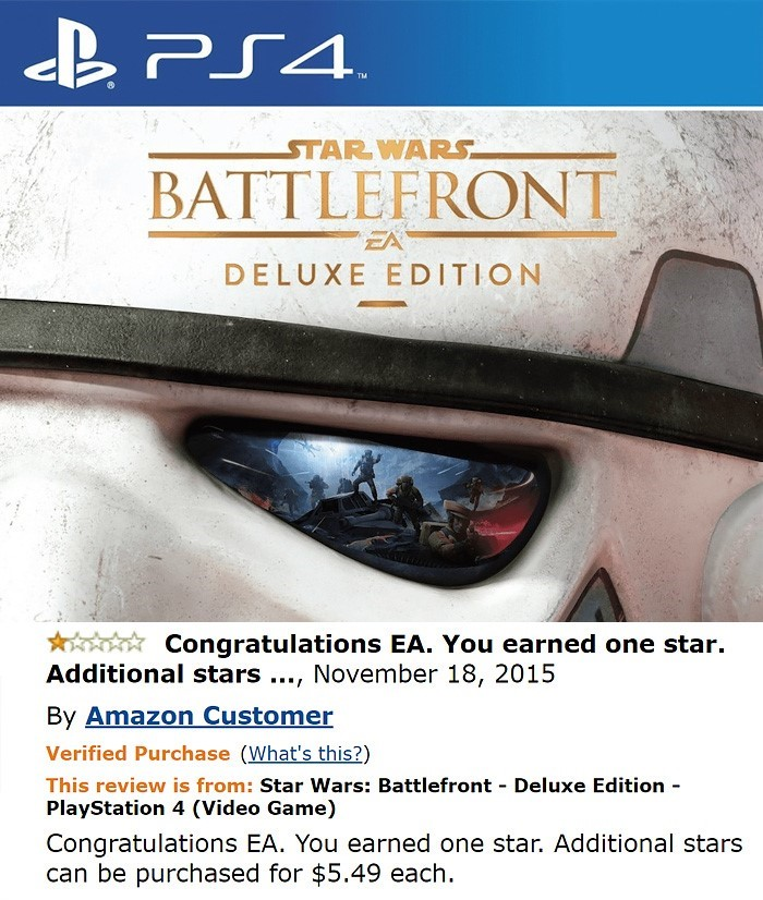 Funny Amazon Reviews Star Wars Battlefront