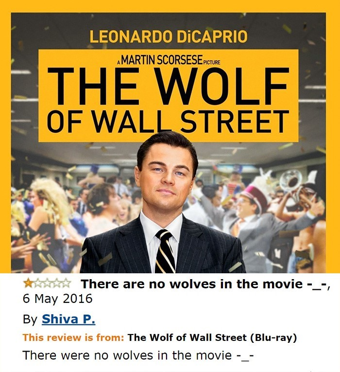 Funny Amazon Reviews The Wolf of Wall Street