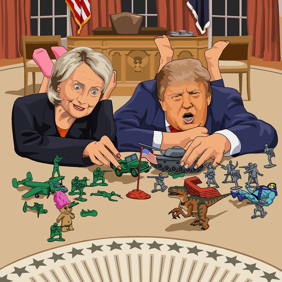 Microsoft Paint is to be Killed off so let's Celebrate all it's Glory Trump and Clinton playing on the oval office floor with their army toys in full battle