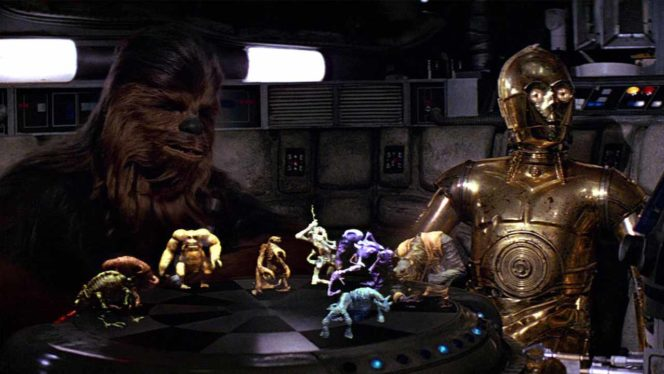Let the Wookie Win! Full Colored 3D Holograms not far Away holochess