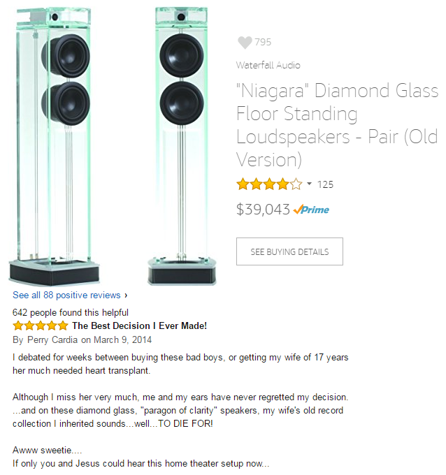 funny amazon reviews speakers