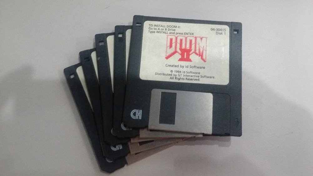 Check out these Unbelievable Tech Related Yard Sale Finds! Doom II on floppy Disk
