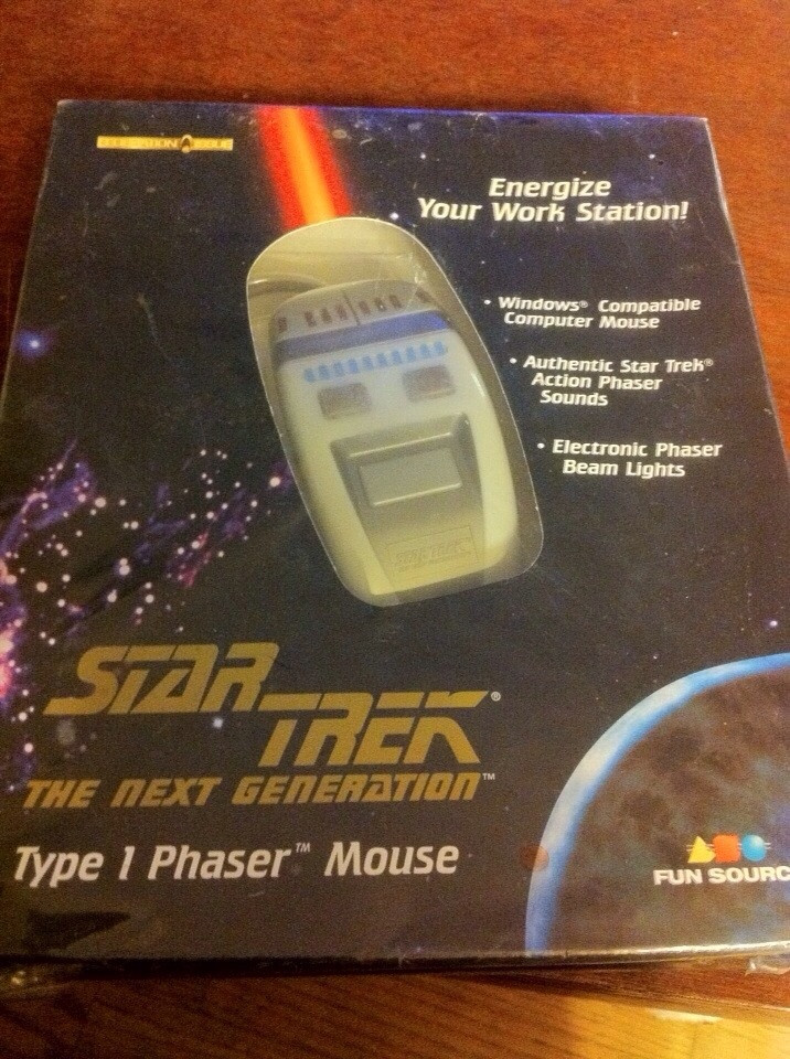 Check out these Unbelievable Tech Related Yard Sale Finds! Star Trek Phaser Mouse