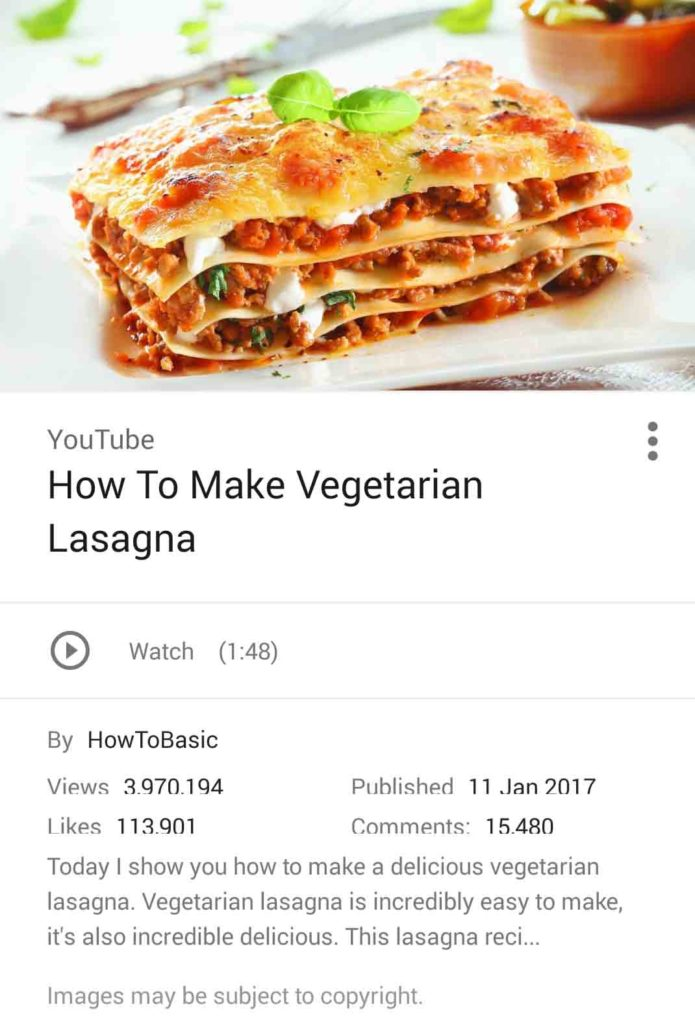 Mmmm youll love this tasty new google image search feature noticed that not all images come associated with recipes but that some of the recipes are in fact videos if there is a video of the recipe on youtube then forumfinder Gallery