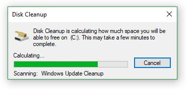 The cleanup program should only take a few minutes.