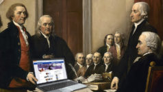 Do These Photoshopped Images Tell Us What the Founding Fathers Really Think of Trump?