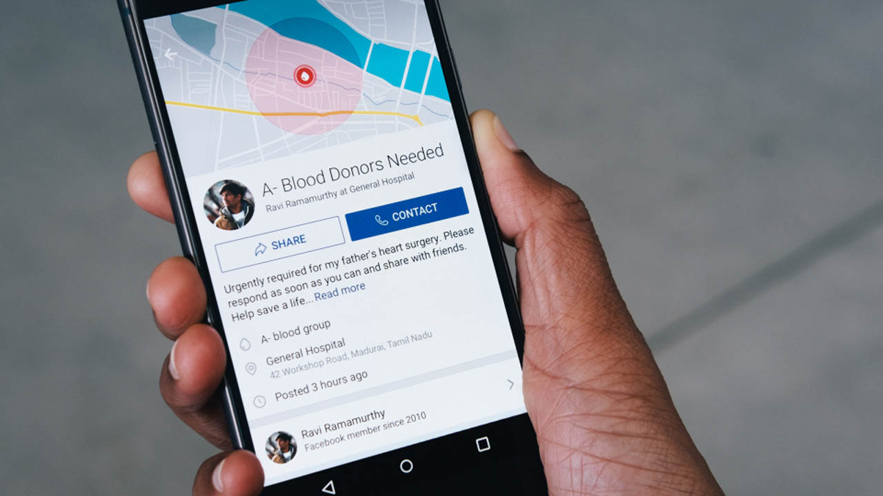 New Facebook Feature Aims to Help Increase Blood Donations in India