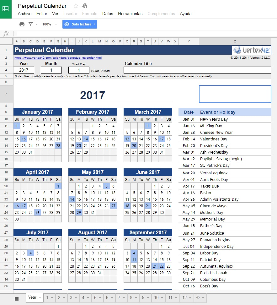 With This Calendar You Have All The Previous Features But Some Of Most Important Events Year Added Obviously Can Change Them To Put