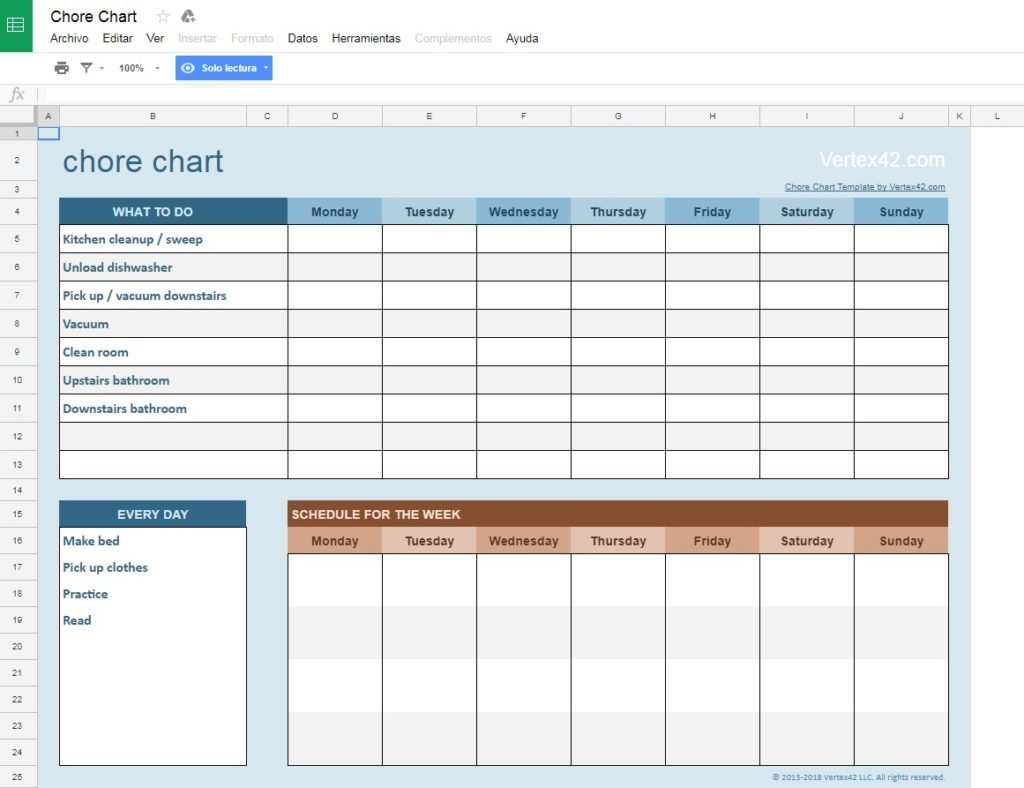 The Best Templates For Google Sheets - Google sheets schedule template