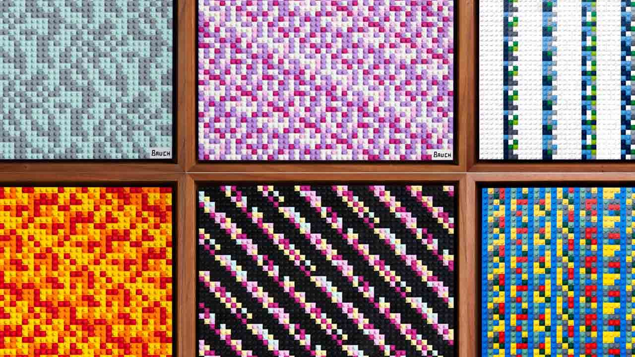These Lego artworks contain coded Bitcoin fortunes