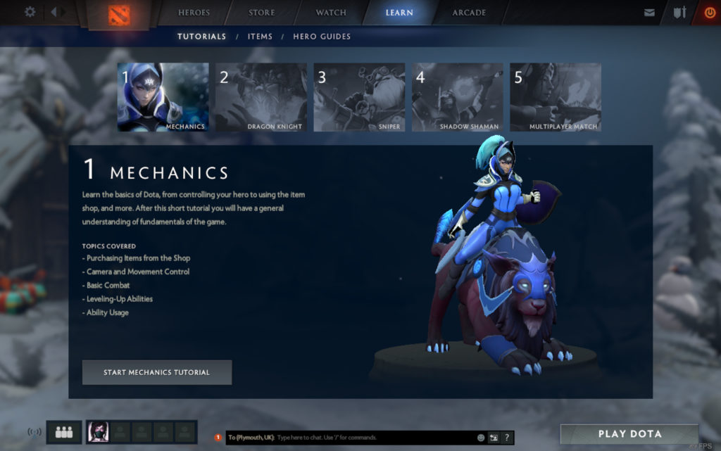 Tutorial and ranked play are now available in dota underlords.