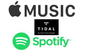 Apple Music vs Spotify vs Tidal