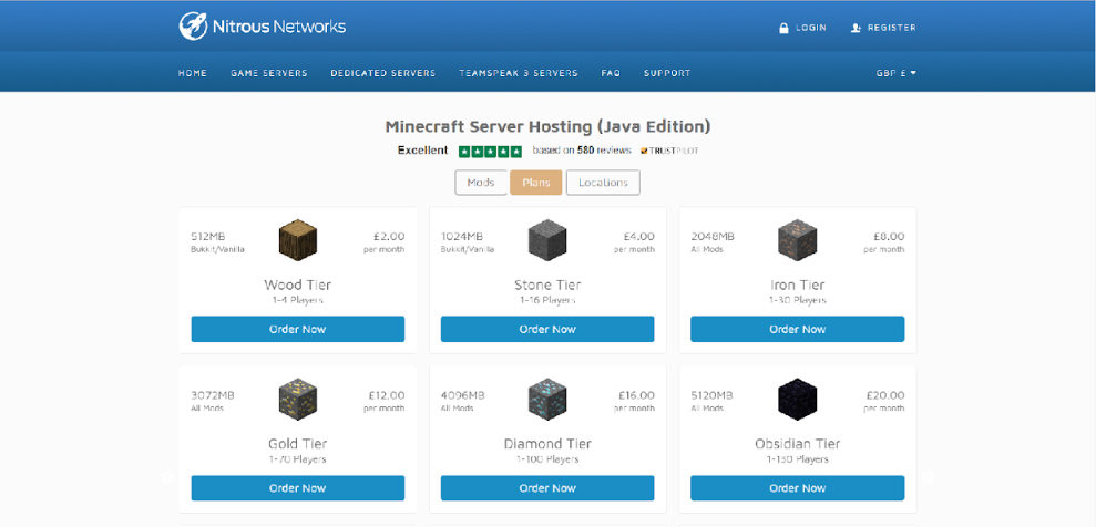 There Are Plenty Of Minecraft Hosting Providers Out But Lets Use Nitrous Networks A UK Based Company As An Example