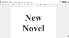 Tips and tricks for writing a novel in Google Docs