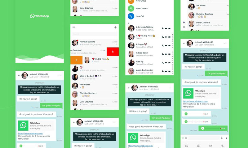 Is this what the new Windows 10 version of WhatsApp will look like?