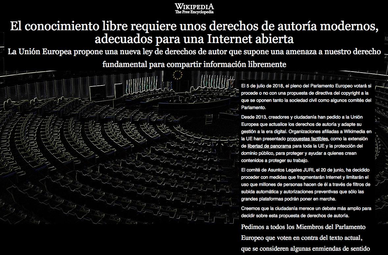 Wikipedia shutdown to protest EU reform