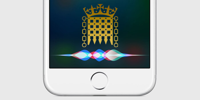 Siri listening to the UK Government