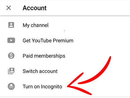 How to use Incognito mode on the YouTube Android app