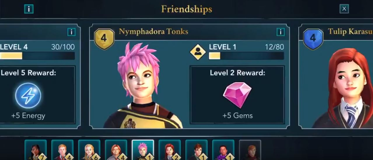 How to improve friendships in Harry Potter: Hogwarts Mystery