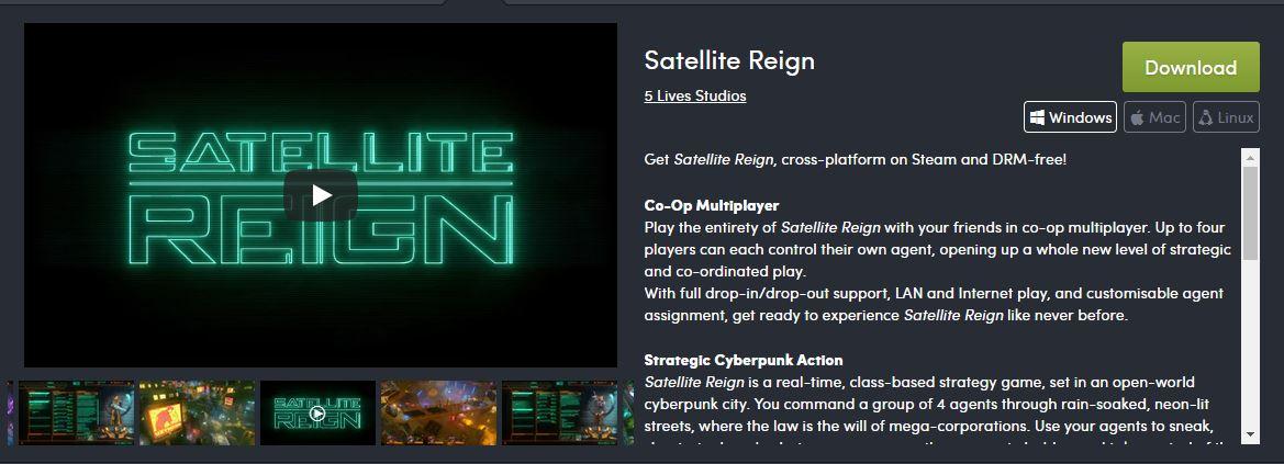 Satellite Reign Download