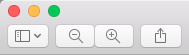 Preview toolbar
