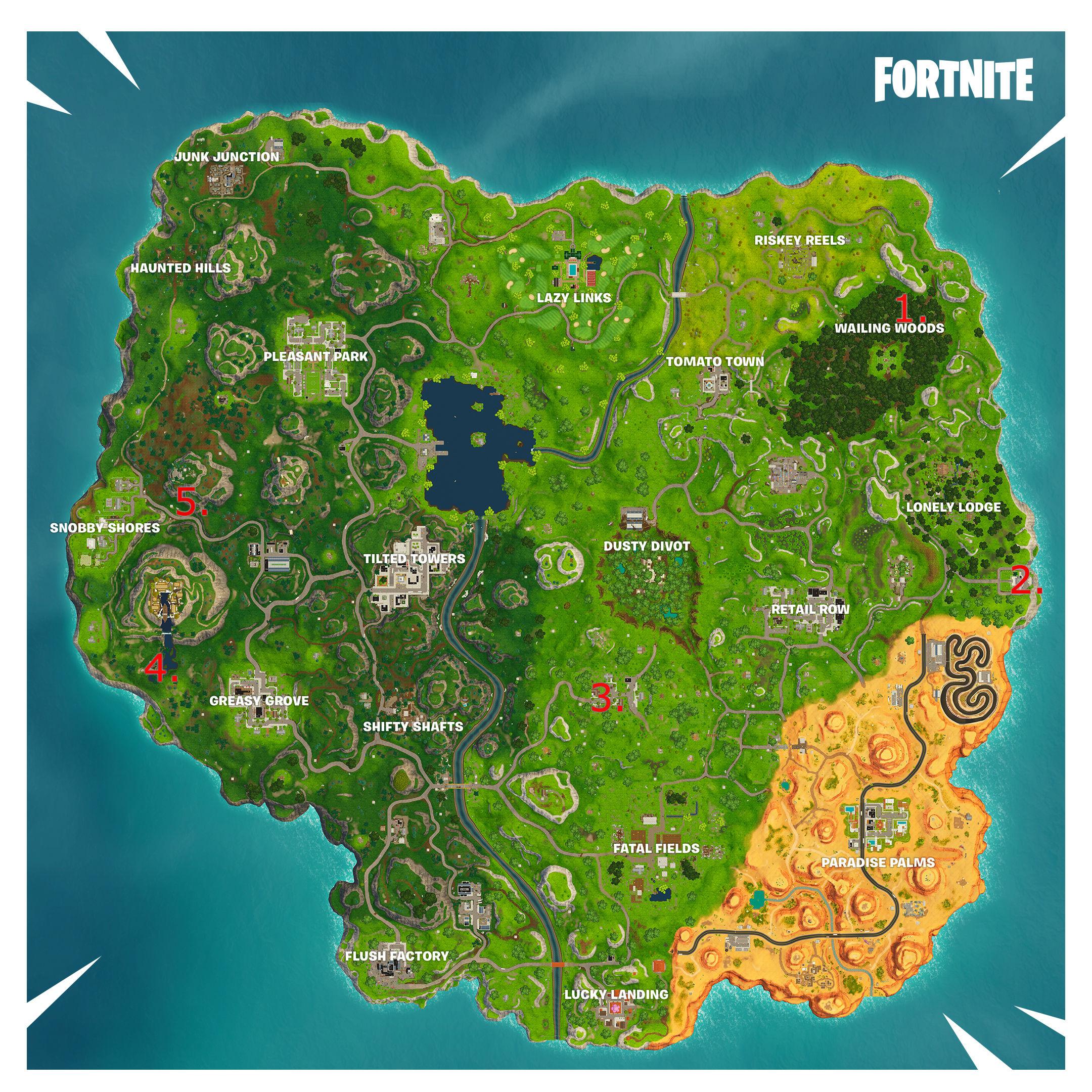 Fortnite: Top 5 hidden locations