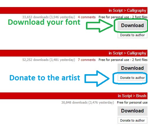 Download here, Donate there