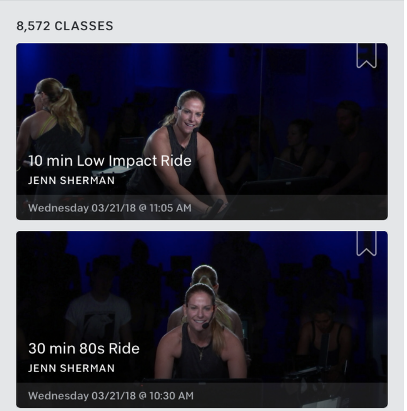 Peloton Digital Classes