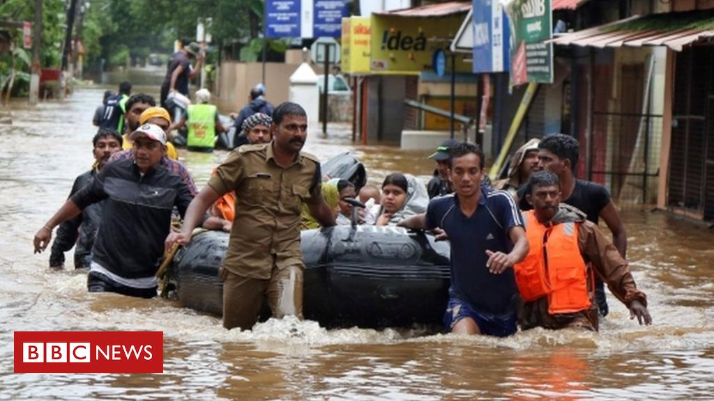 Flood rescue in Kerala