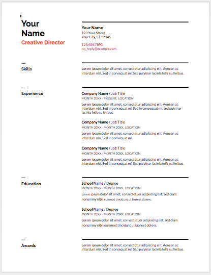 How To Write The Best Resume In Google Docs
