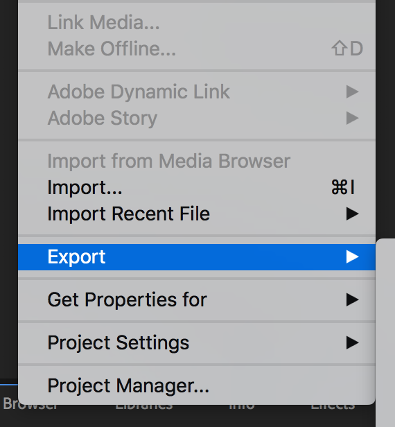Export screen shot