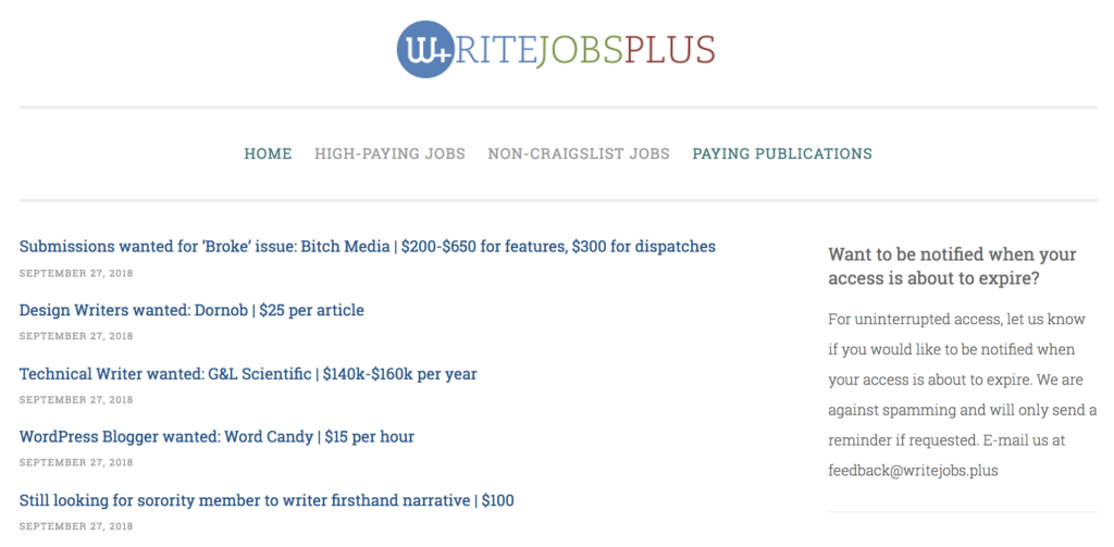 WriteJobs+ Board