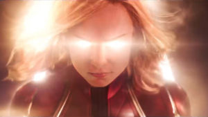 Watch Captain Marvel punch an old lady in the face in her new trailer
