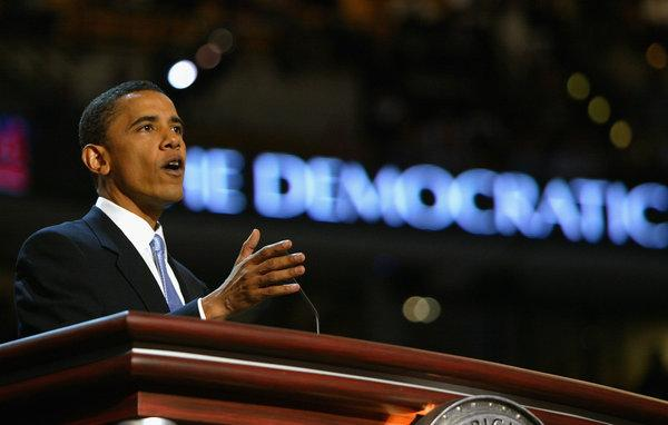 Obama's resounding success was in large part due to his talented speech-giving.