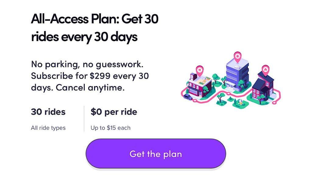 lyft subscription screenshot