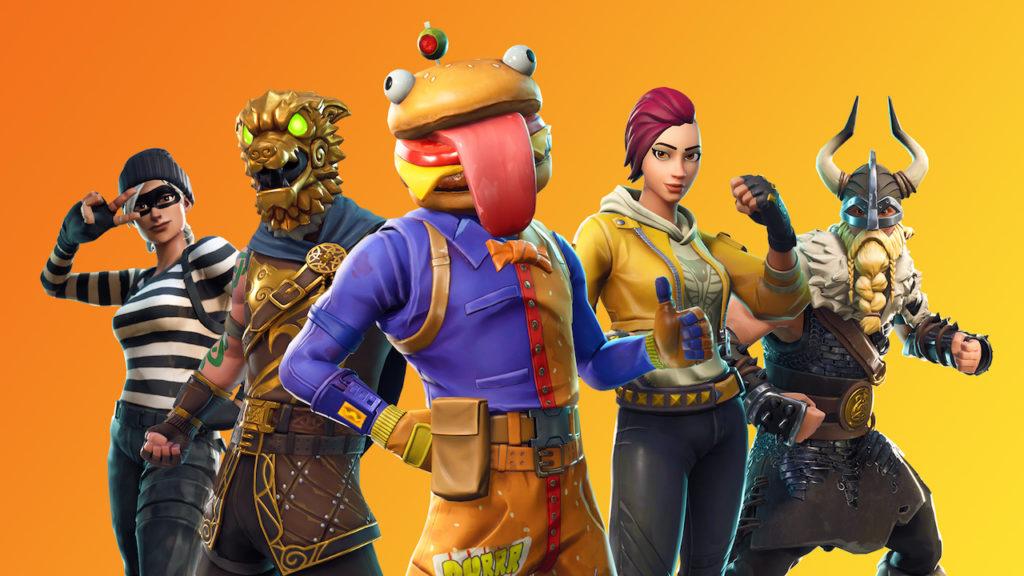 fortnite character lineup orange