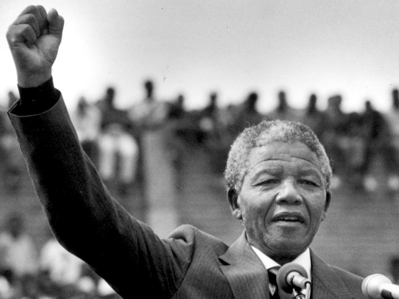 Nelson Mandela admitted his dealings with the ANC, and rallied a supportive crowd of his rebellious actions
