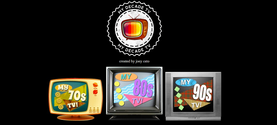 my decade tv homepage