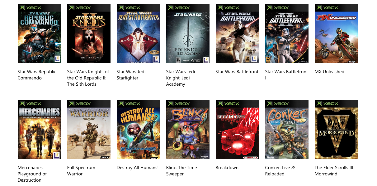 Top 7 original Xbox games compatible on Xbox One