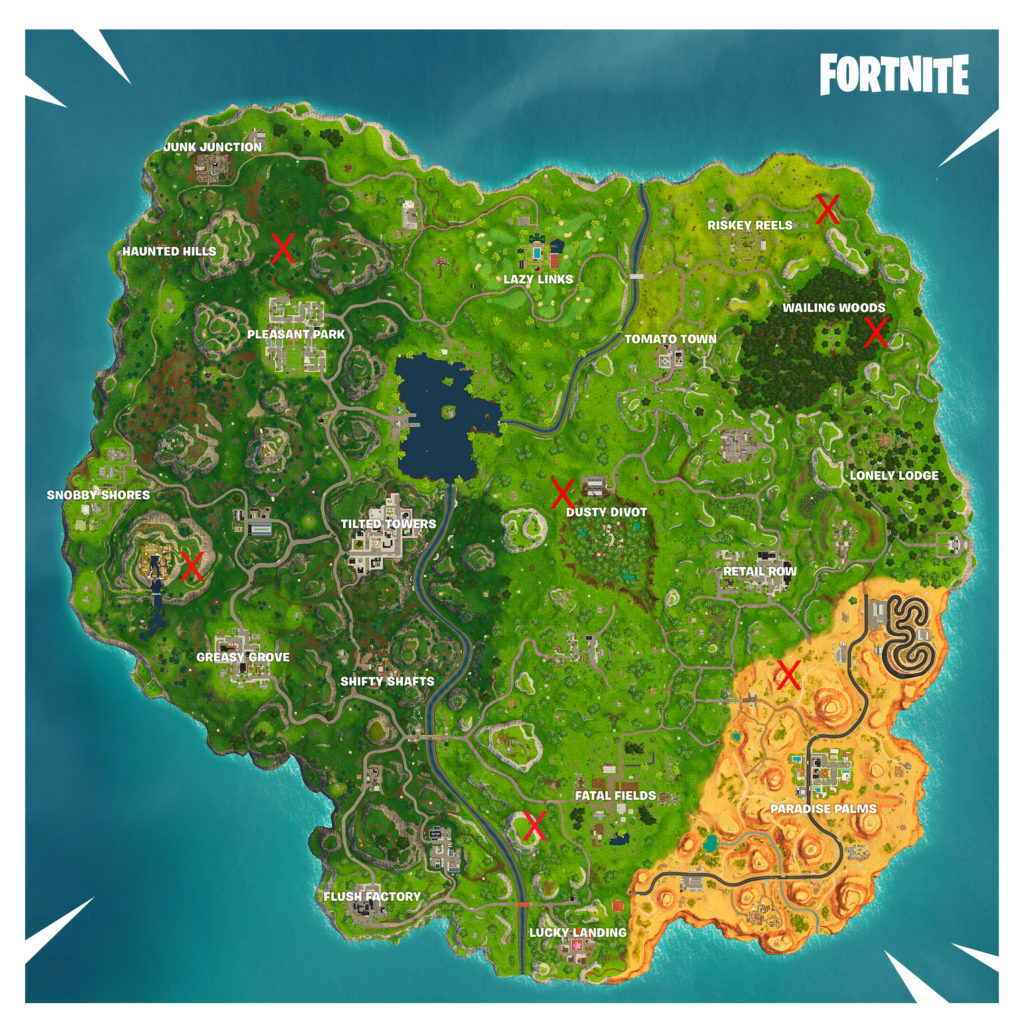 fortnite shooting gallery map