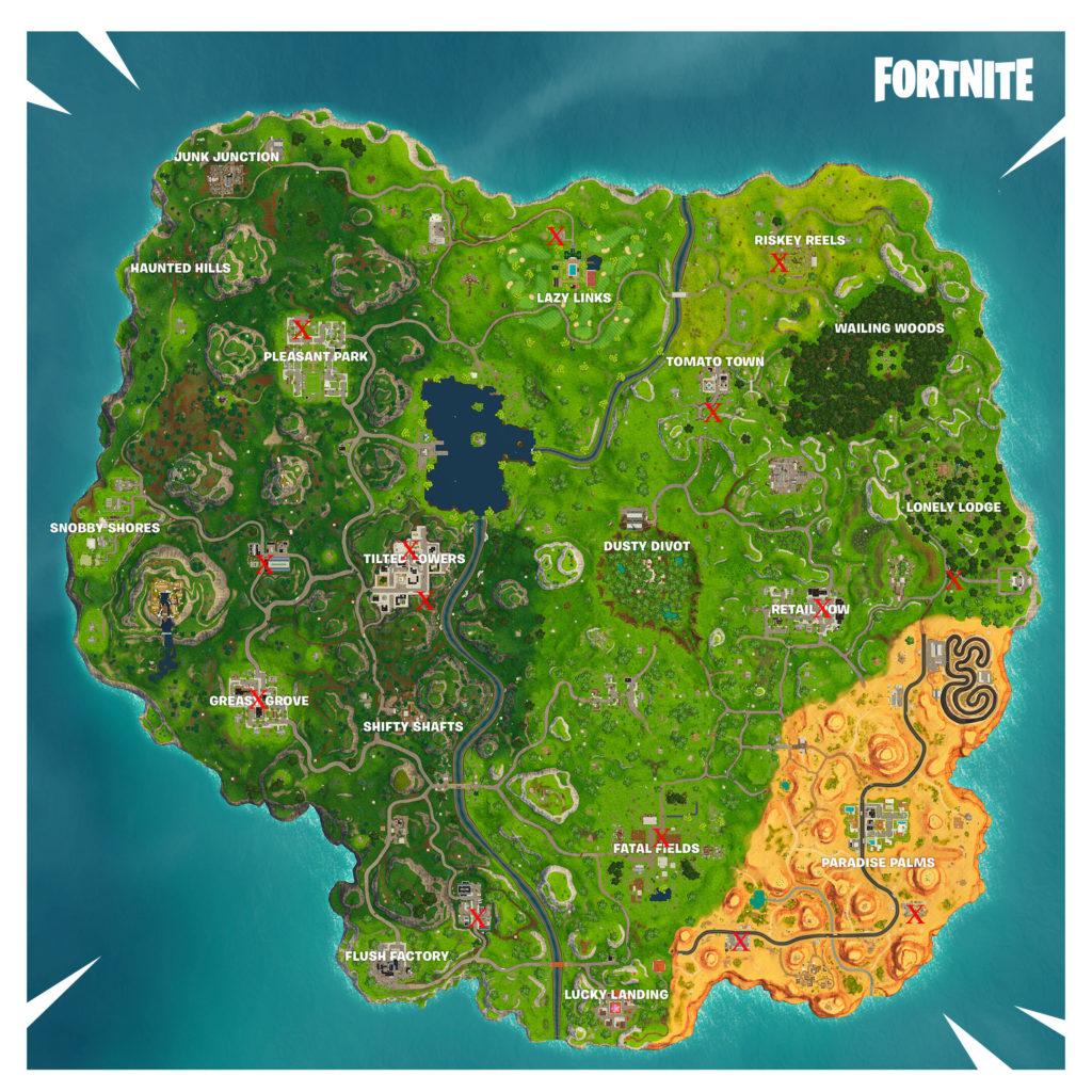 streetlight spotlight map locations fortnite