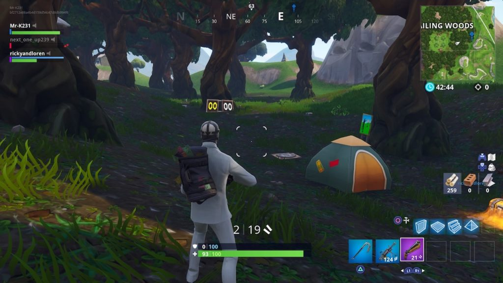 where are the shooting galleries in fortnite