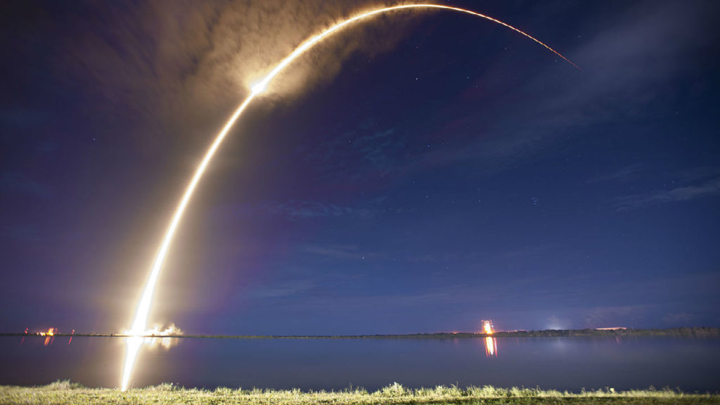 Watch the Falcon 9 launch light up the California sky