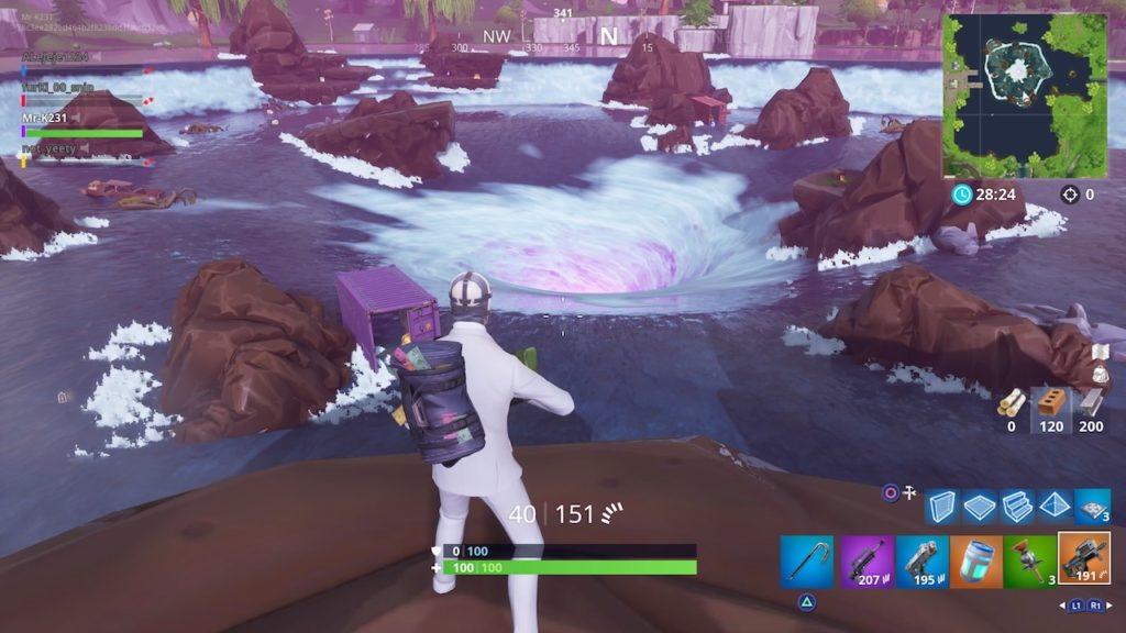 loot lake whirpool fortnite season 6