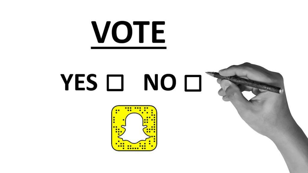snapchat helps people register to vote