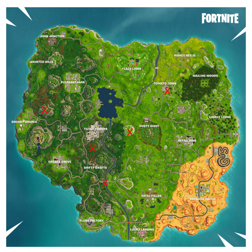 Fortnite season 6 where to find the timed trials map included fortnite season 6 timed trials location map gumiabroncs