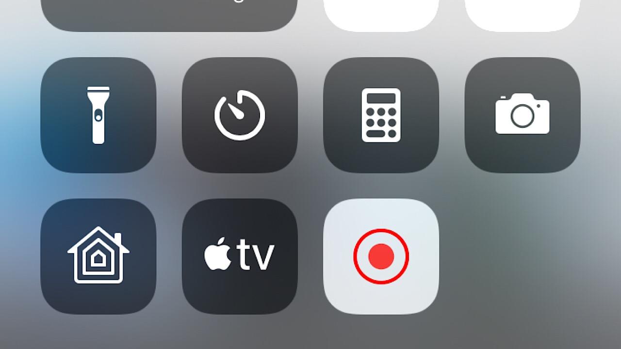 screen recording button screenshot